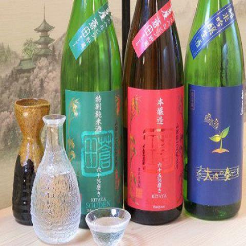 博多の居酒屋で日本酒を飲み比べ!
