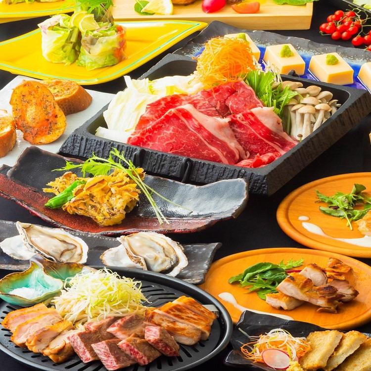 博多の居酒屋[しろ屋]で博多料理を囲む送別会